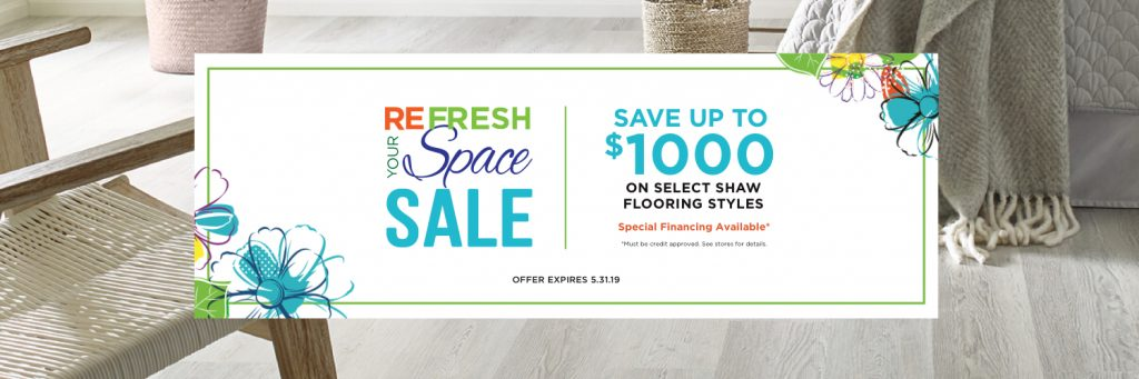 Refresh your space sale | All Floors Design Centre