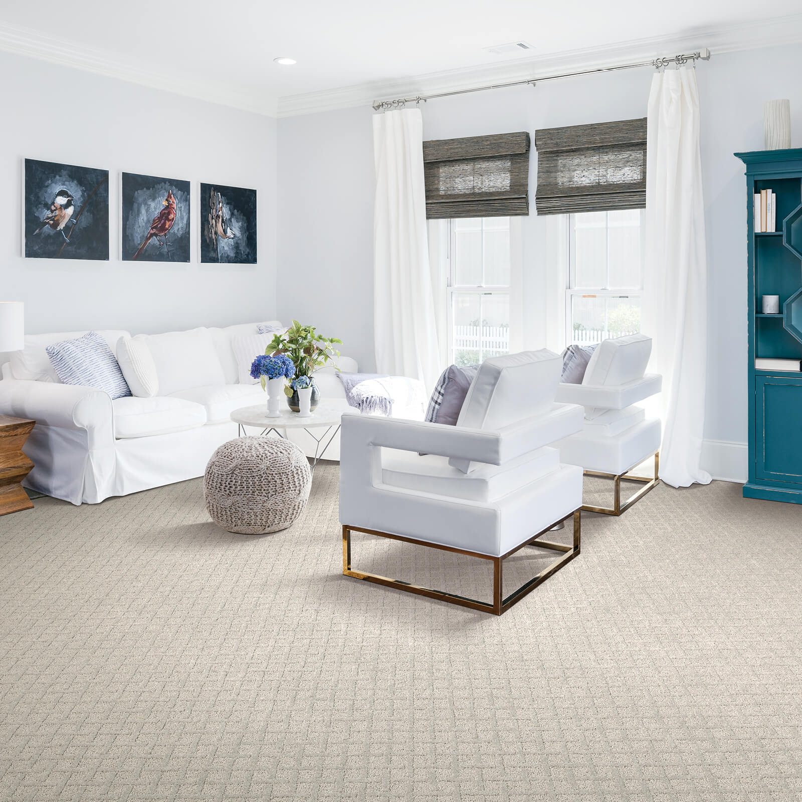 White sofa on floor | All Floors Design Centre