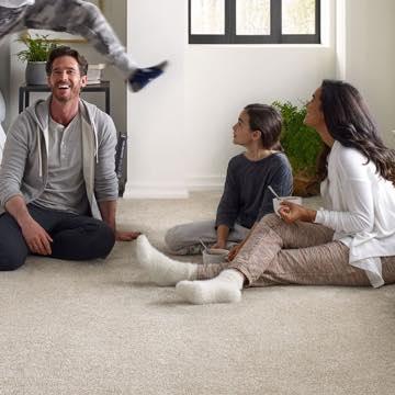 Family on Carpet floor | All Floors Design Centre