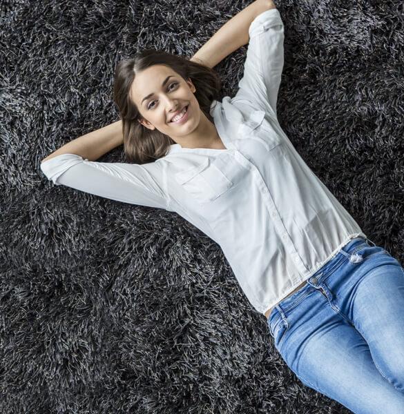 Lady on carpet | All Floors Design Centre