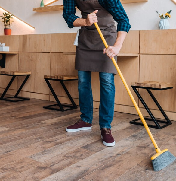 Sweeping hardwood | All Floors Design Centre