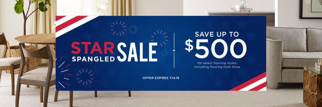 Star spangled sale banner | All Floors Design Centre