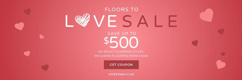 Love sale banner | All Floors Design Centre