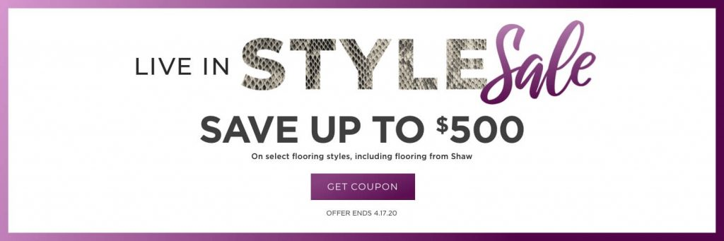 Live in style sale banner | All Floors Design Centre