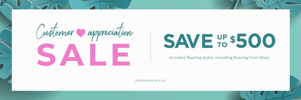 Customer Appreciation Sale | All Floors Design Centre
