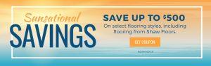 Sunsational Savings Sale